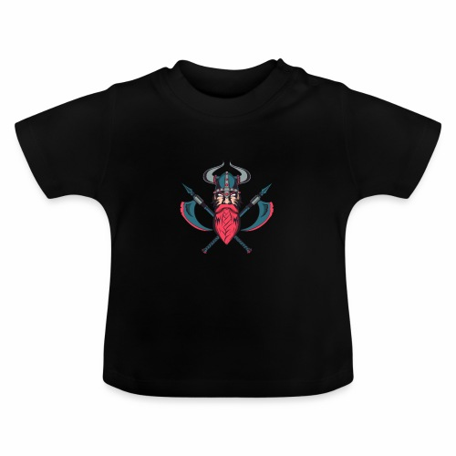 Viking With Axes T-Shirt - Norse Mythology - Vauvan t-paita