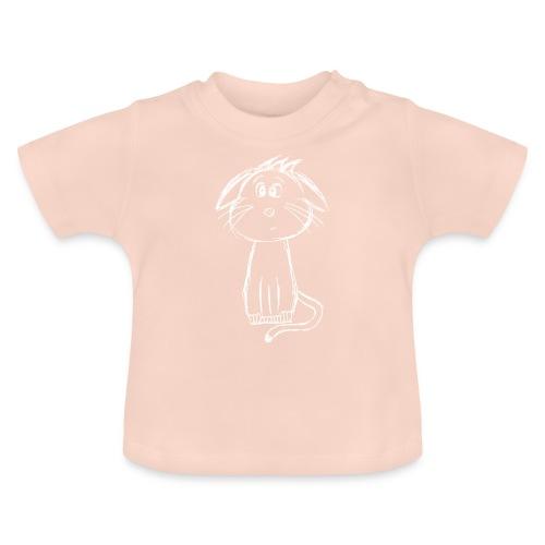 Kissa Kissanpentu valkoinen scribblesirii - Vauvan t-paita