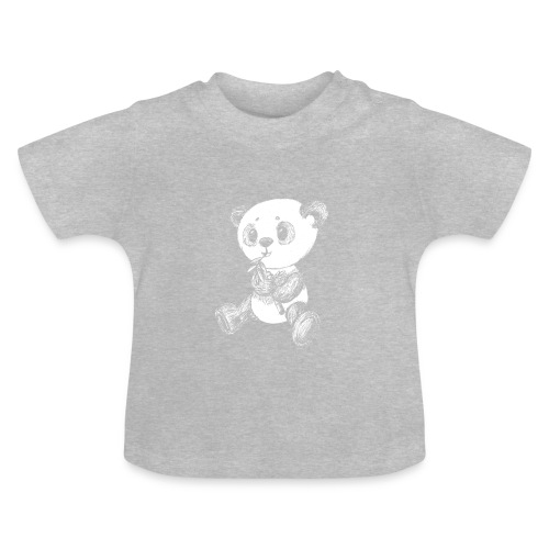 Panda bjørn hvid scribblesirii - Baby T-shirt