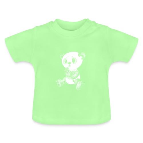 Panda Karhu valkoinen scribblesirii - Vauvan t-paita