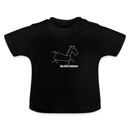 Das Pferd Günther - weiß - Baby T-Shirt
