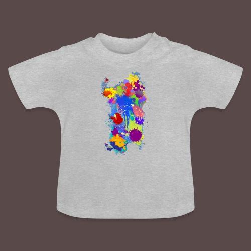 Sardegna Silhouette Paint - Maglietta per neonato