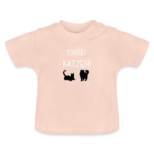 Meine Katzen sind meine Kinder Katzenliebhaber - Baby T-Shirt