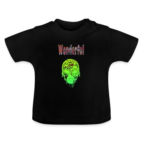 Maske mit Wonderful Schriftzug - Baby T-Shirt