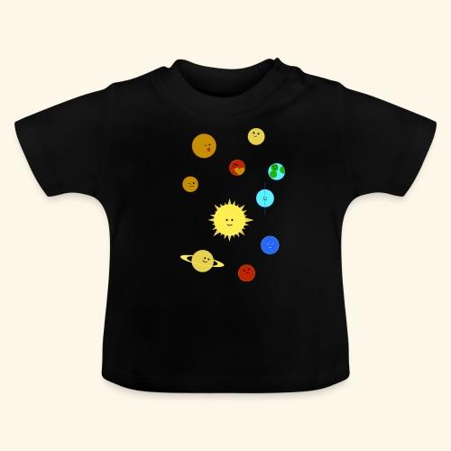 Solsystem svart - Baby-T-shirt