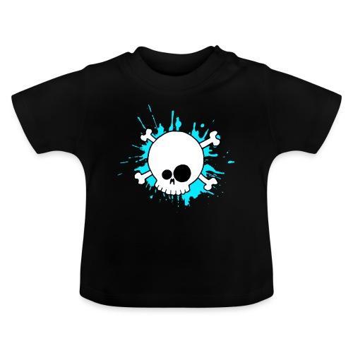 SKULL SPLASH BLEU - T-shirt Bébé