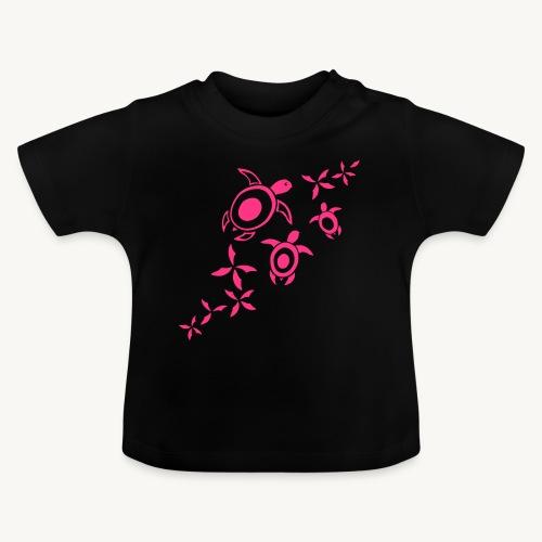 blumige Wasserschildis - Baby T-Shirt