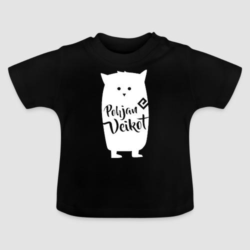 Veikko-pöllö valkoinen - Vauvan t-paita