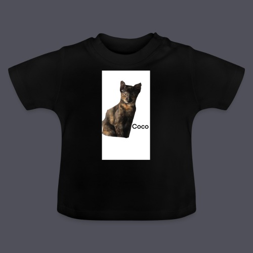 Coco the Kitten and inspirational quote Combined - Baby T-Shirt