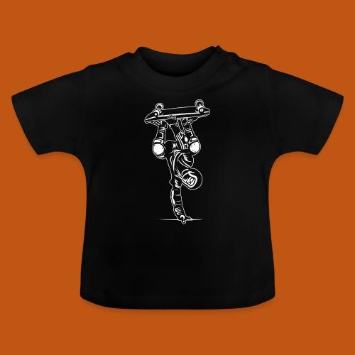 Skater / Skateboarder 02_weiß - Baby T-Shirt