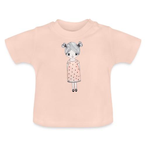 lachend meisje met knotjes - Baby T-shirt