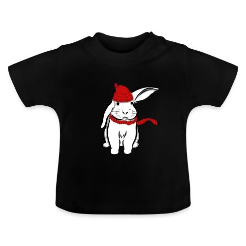 Kaninchen Hase Mütze Schal Schlappohr Schneehase - Baby T-Shirt