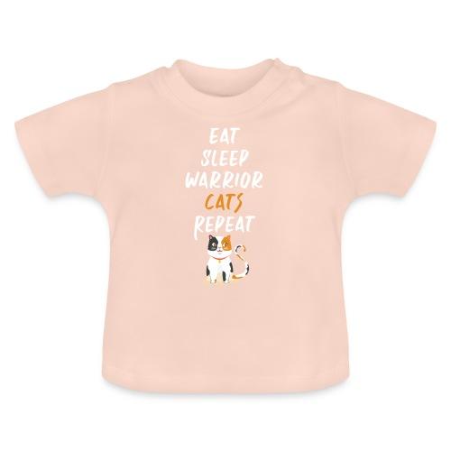 Eat sleep warrior cats repeat - T-shirt Bébé