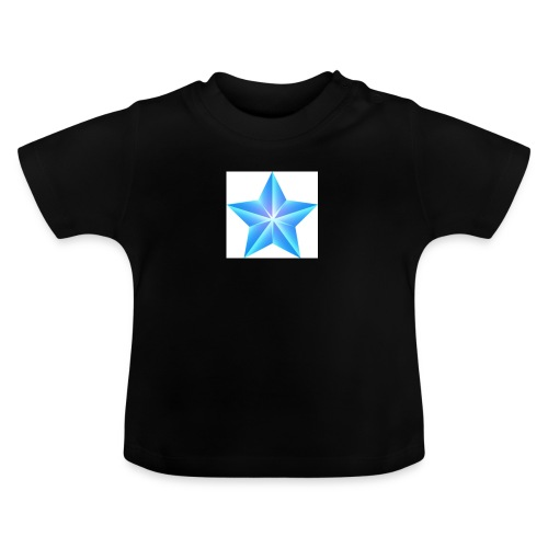 blue themed christmas star 0515 1012 0322 4634 SMU - Baby T-Shirt