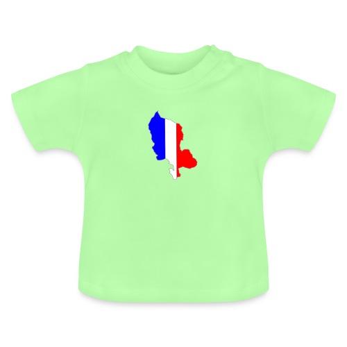 Carte Territoire de Belfort bleu blanc rouge - T-shirt Bébé