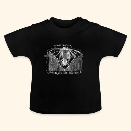 Spirit Animal Fledermaus weiß - Baby T-Shirt