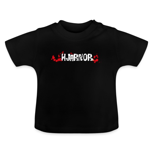 Hjärnor logo vit - Baby-T-shirt