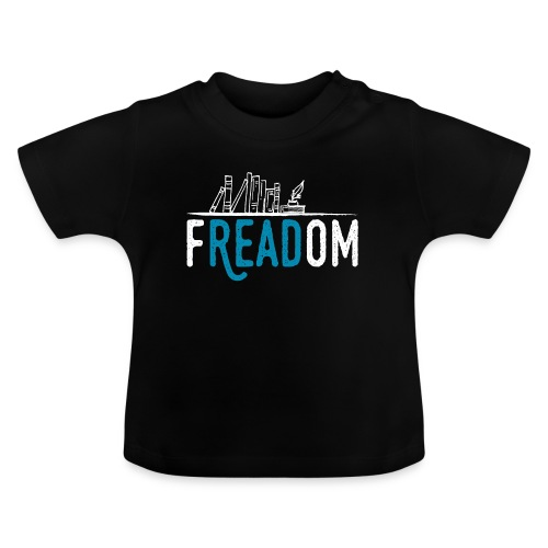 0220 Freiheit beim Lesen von Büchern | Leser - Baby T-Shirt
