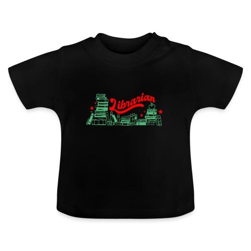 0322 Stack of books Librarian bookshelf - Baby T-Shirt
