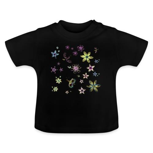 flowers and butterflies - Maglietta per neonato