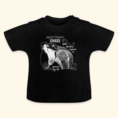 Spirit Animal Schlange weiß - Baby T-Shirt