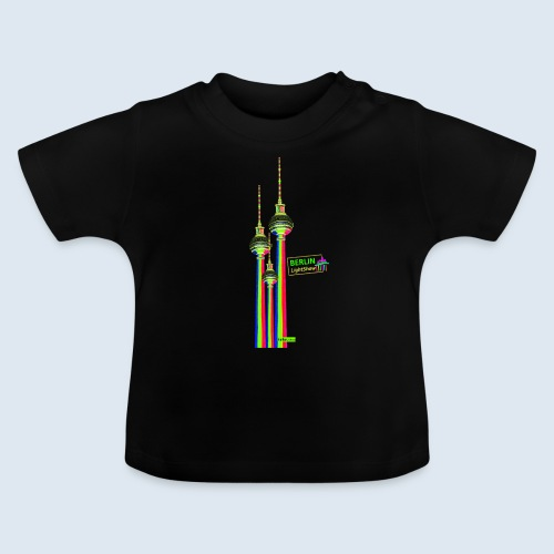 Fernsehturm Berlin PopArt ickeshop BachBilder - Baby T-Shirt