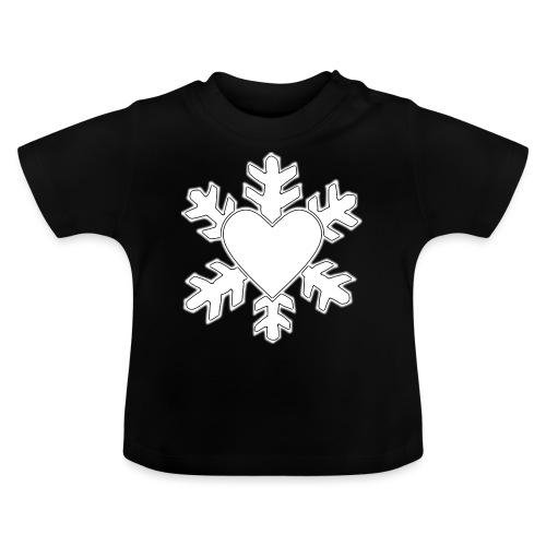 Flocon coeur 3D - T-shirt Bébé