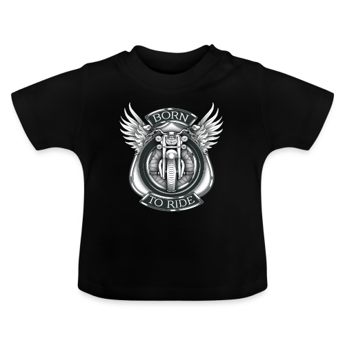 BORN TO RIDE - Camiseta bebé