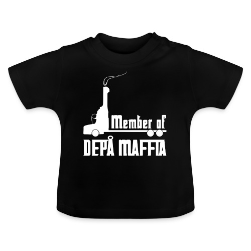 Depå Maffia vitt tryck - Baby-T-shirt