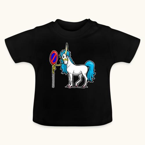 Cadeau interdit de stationnement blague licorne drôle - T-shirt Bébé