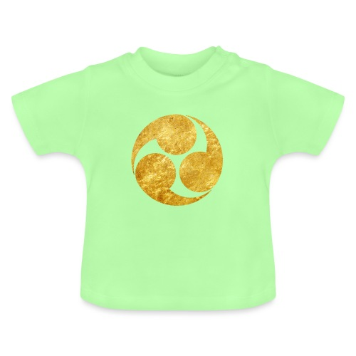 Kobayakawa Mon Japanese clan gold on black - Baby T-Shirt
