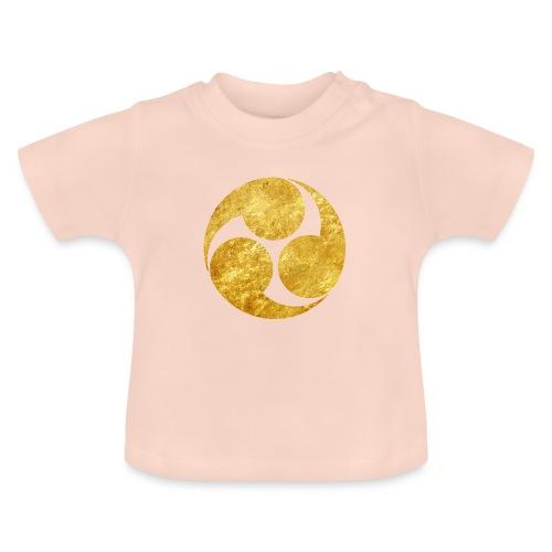 Kobayakawa Mon Japanese clan gold on black - Baby T-Shirt
