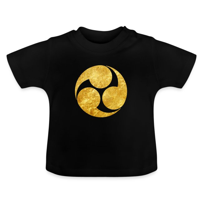 Kobayakawa Mon Japanese clan gold on black