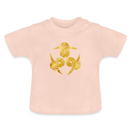Three Geese Japanese Kamon in gold - Baby T-Shirt