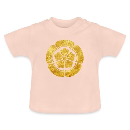 Oda Mon Japanese samurai clan faux gold on black - Baby T-Shirt