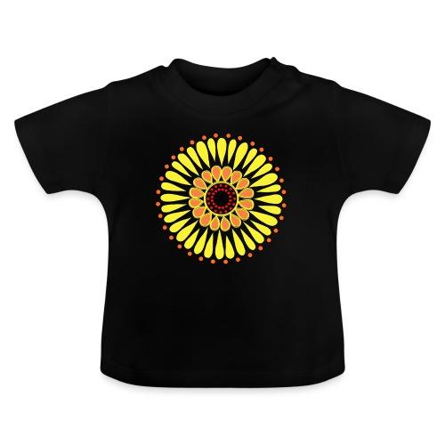 Yellow Sunflower Mandala - Baby T-Shirt