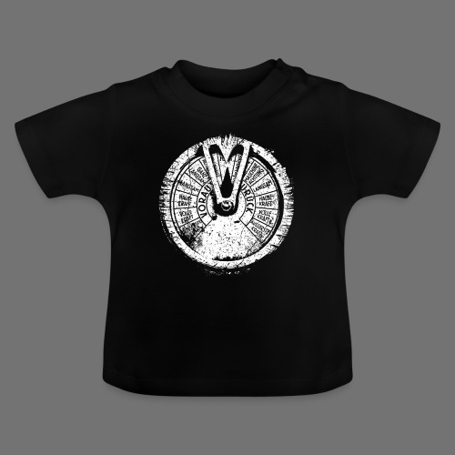 Maschinentelegraph (hvid oldstyle) - Baby T-shirt