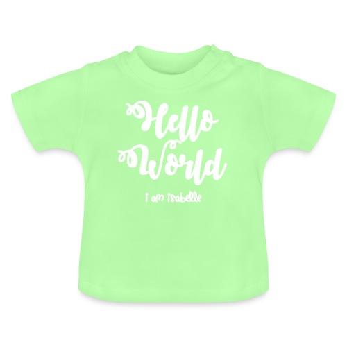 hello world new white design - Baby T-Shirt