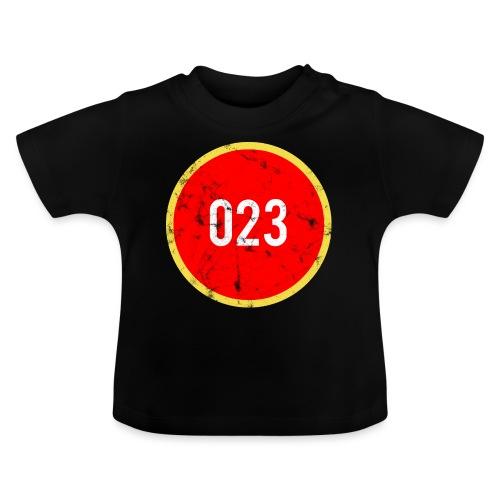 023 logo 2 washed regio Haarlem - Baby T-shirt