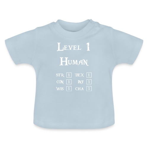 Level 1 Human - Wit - Baby T-shirt