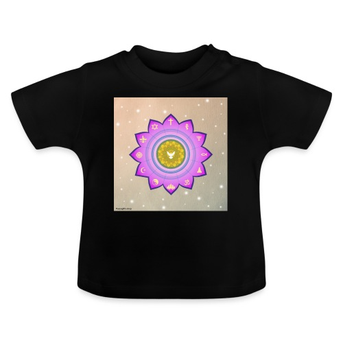 0 1 Dove Surrounded by Religious Symbols. - Baby T-Shirt