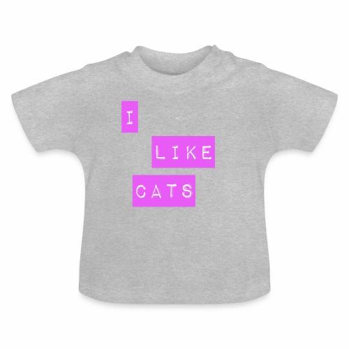 I like cats - Baby T-Shirt