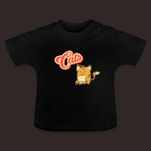 Katze | Katzen süß Schriftzug - Baby T-Shirt