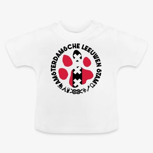 ALS witte cirkel lichtshi - Baby T-shirt
