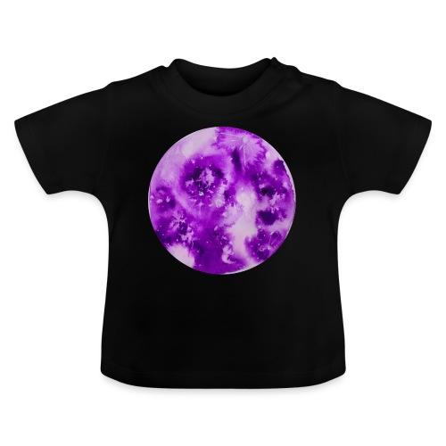Ręcznie malowany akwarelowy księżyc fioletowy - Koszulka niemowlęca