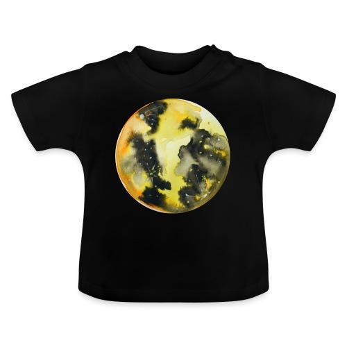 Ręcznie malowany akwarelowy żółty księżyc w pełni - Koszulka niemowlęca