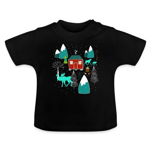 Weihnachten Elch I Geschenk Winterstimmung - Baby T-Shirt