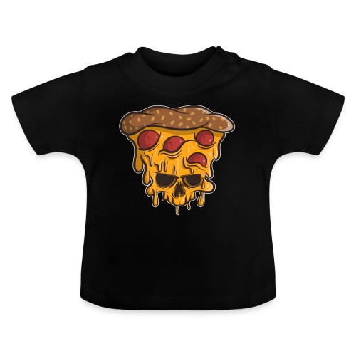 Zombie Halloween Pizza Skull - Baby T-Shirt