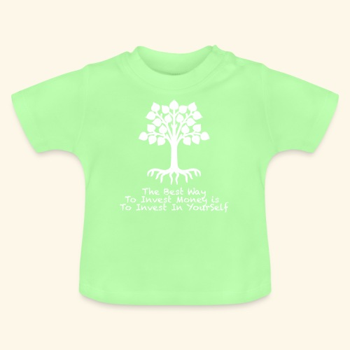 Printed T-Shirt Tree Best Way Invest Money - Maglietta per neonato