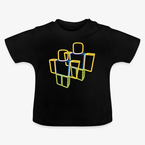 Sqaure Noob Person - Baby T-Shirt